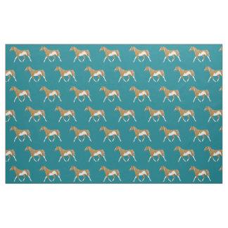 Palomino Paint Horse Fabric