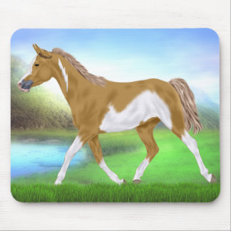 Palomino Paint Horse Mouse Pad
