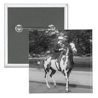 Palomino Pony, 1915 2 Inch Square Button