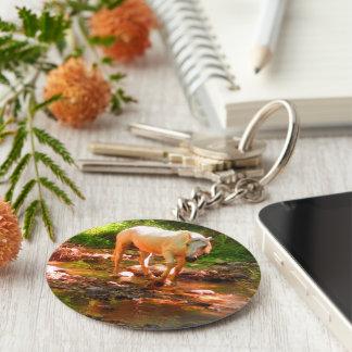 Palomino Quarter Horse Keychain