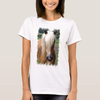 Palomino Quarter Horse Ladies Fitted T-Shirt