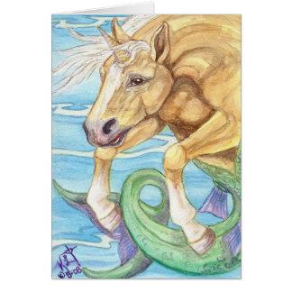 Palomino Unicorn Sea Horse Card