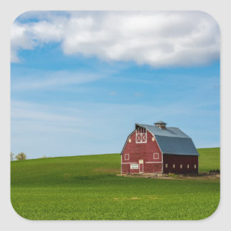Palouse Country Barn - Eastern Washington Square Sticker