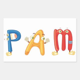 Pam Sticker
