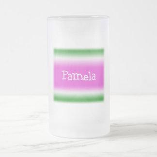 Pamela Frosted Glass Beer Mug