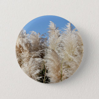 Pampas Grass with a Sunny Blue Sky 2 Inch Round Button