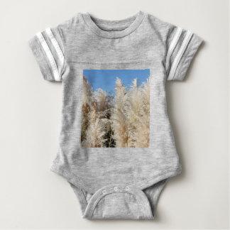 Pampas Grass with a Sunny Blue Sky Baby Bodysuit