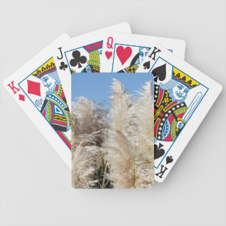 Pampas Grass with a Sunny Blue Sky Bicycle Playing Cards