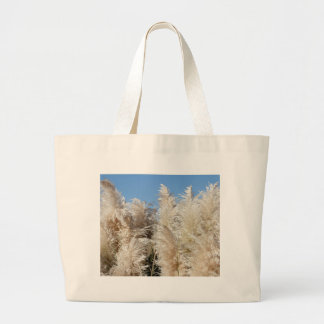 Pampas Grass with a Sunny Blue Sky Large Tote Bag