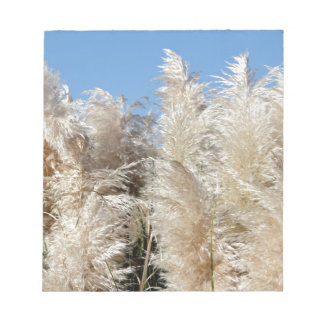 Pampas Grass with a Sunny Blue Sky Notepad