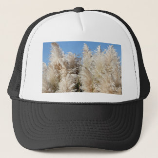 Pampas Grass with a Sunny Blue Sky Trucker Hat