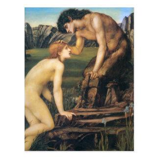 Pan and Psyche - Edward Burne-Jones Postcard