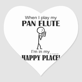 Pan Flute Happy Place Heart Sticker