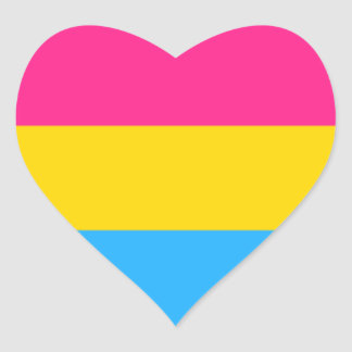 Pan Pride Heart Sticker
