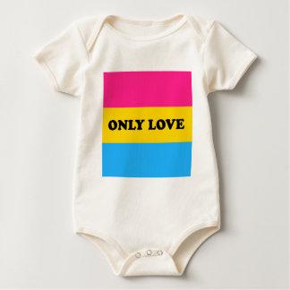 Pan Pride ONLY LOVE Baby Bodysuit