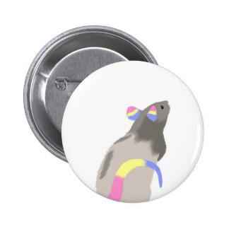 Pan Pride Rat 2 Inch Round Button