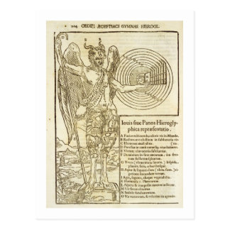 Pan, the universal god, and the elements he repres postcard