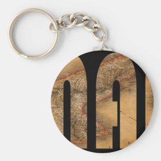 panama1864 basic round button keychain