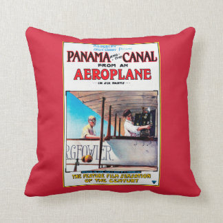 Panama and the Canal Aeroplane Movie Promo Poste Throw Pillow