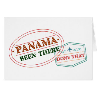 Panama Been There Done That Card