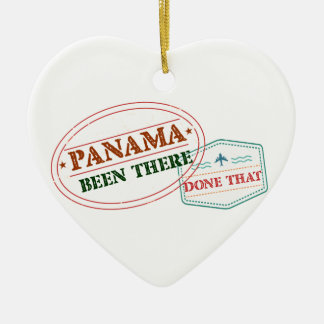 Panama Been There Done That Ceramic Ornament