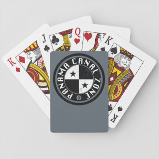 Panama Canal Zone Circle Design Playing Cards