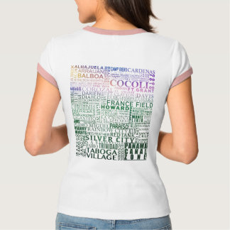 Panama Canal Zone Every Location (Tropical Sunset) T-Shirt