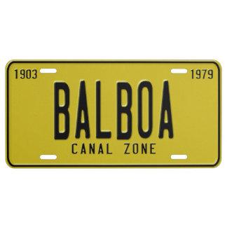 Panama Canal Zone Plates 60: Balboa