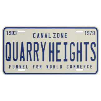 Panama Canal Zone Plates 70: Quarry Heights
