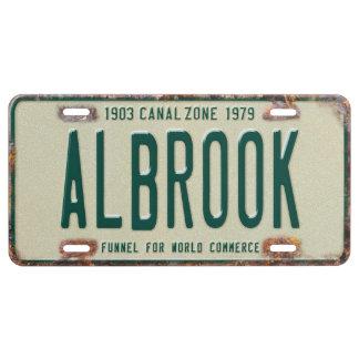 Panama Canal Zone Plates 80: Albrook