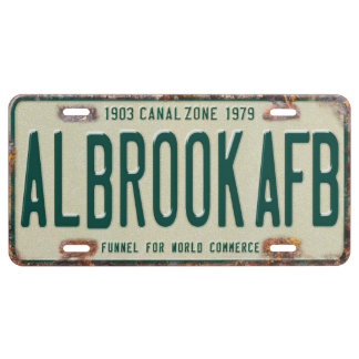 Panama Canal Zone Plates 80: Albrook AFB