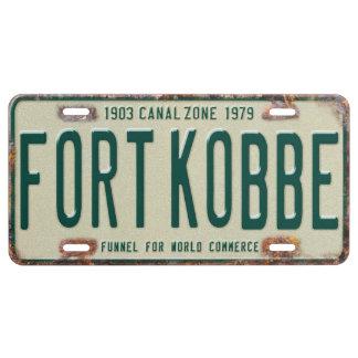 Panama Canal Zone Plates 80: Fort Kobbe