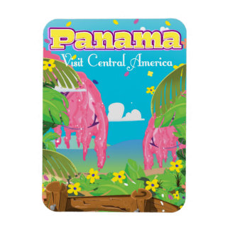 Panama Cartoon Travel print. Magnet