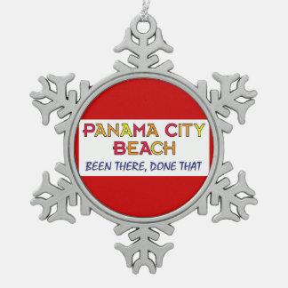 Panama City Beach Florida BTDT Snowflake Pewter Christmas Ornament