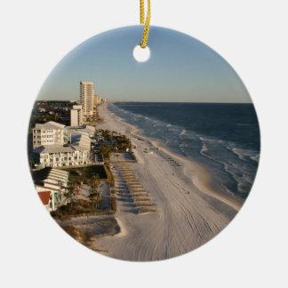Panama City beach Florida picture Ceramic Ornament