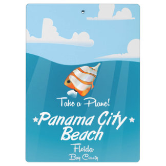 Panama City Beach Florida vintage travel poster. Clipboard