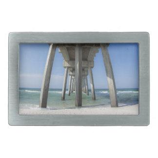 Panama City Beach Pier Rectangular Belt Buckle