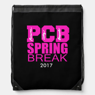 Panama City Beach Spring Break 2017 Drawstring Bag