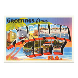 Panama City Florida FL Old Vintage Travel Souvenir Photographic Print