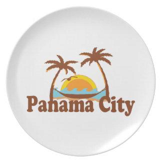 Panama City. Plate