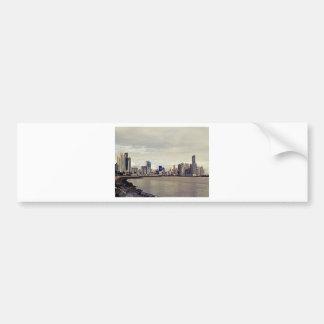 Panama City Skyline Bumper Sticker