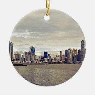 Panama City Skyline Ceramic Ornament