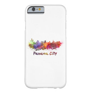 Panama City skyline in watercolor Barely There iPhone 6 Case