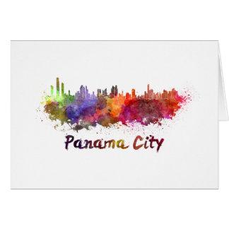 Panama City skyline in watercolor Card