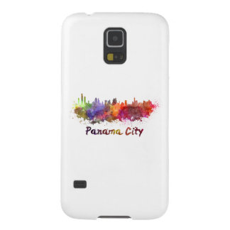 Panama City skyline in watercolor Case For Galaxy S5
