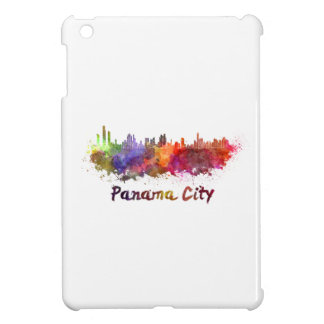 Panama City skyline in watercolor iPad Mini Cover