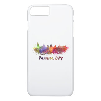 Panama City skyline in watercolor iPhone 8 Plus/7 Plus Case