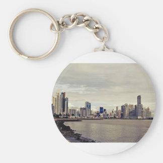 Panama City Skyline Keychain