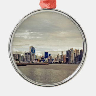Panama City Skyline Metal Ornament