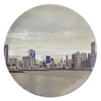 Panama City Skyline Plate